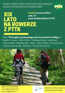 XIX LATO na rowerze z pttk 8 czerwca