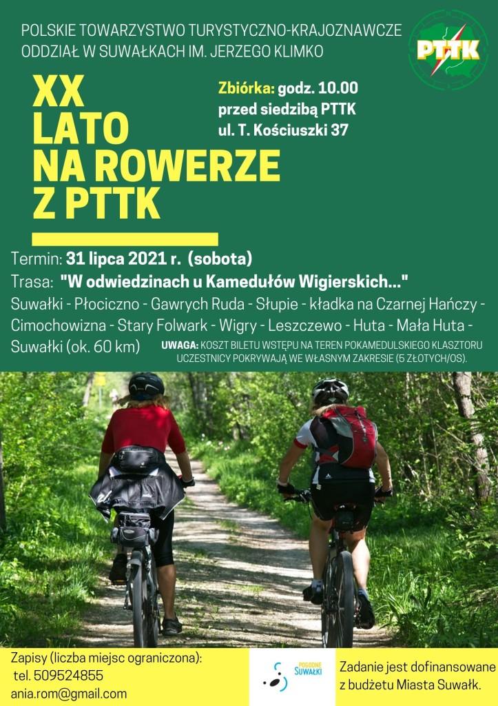 XX LATO na rowerze z pttk (31 lipca)