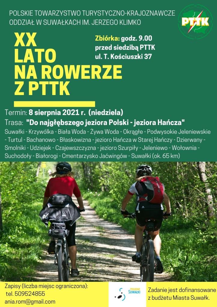 XX LATO na rowerze z pttk (8 sierpnia)